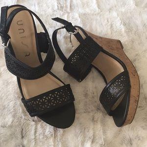 UNISA Wedge Sandal Straps Cork Size 7 1/2.